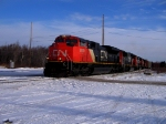CN 401 with the first SD70m-2 by CN